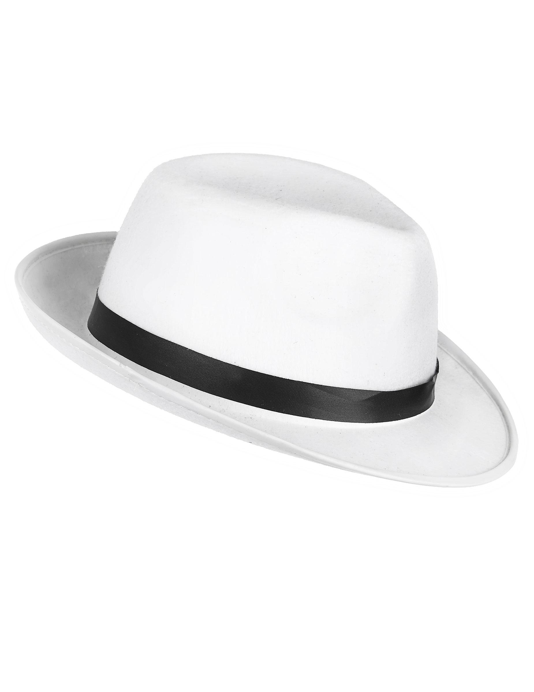 131f3d9be4cc2 Chapéu de gangster branco adulto  Chapéus