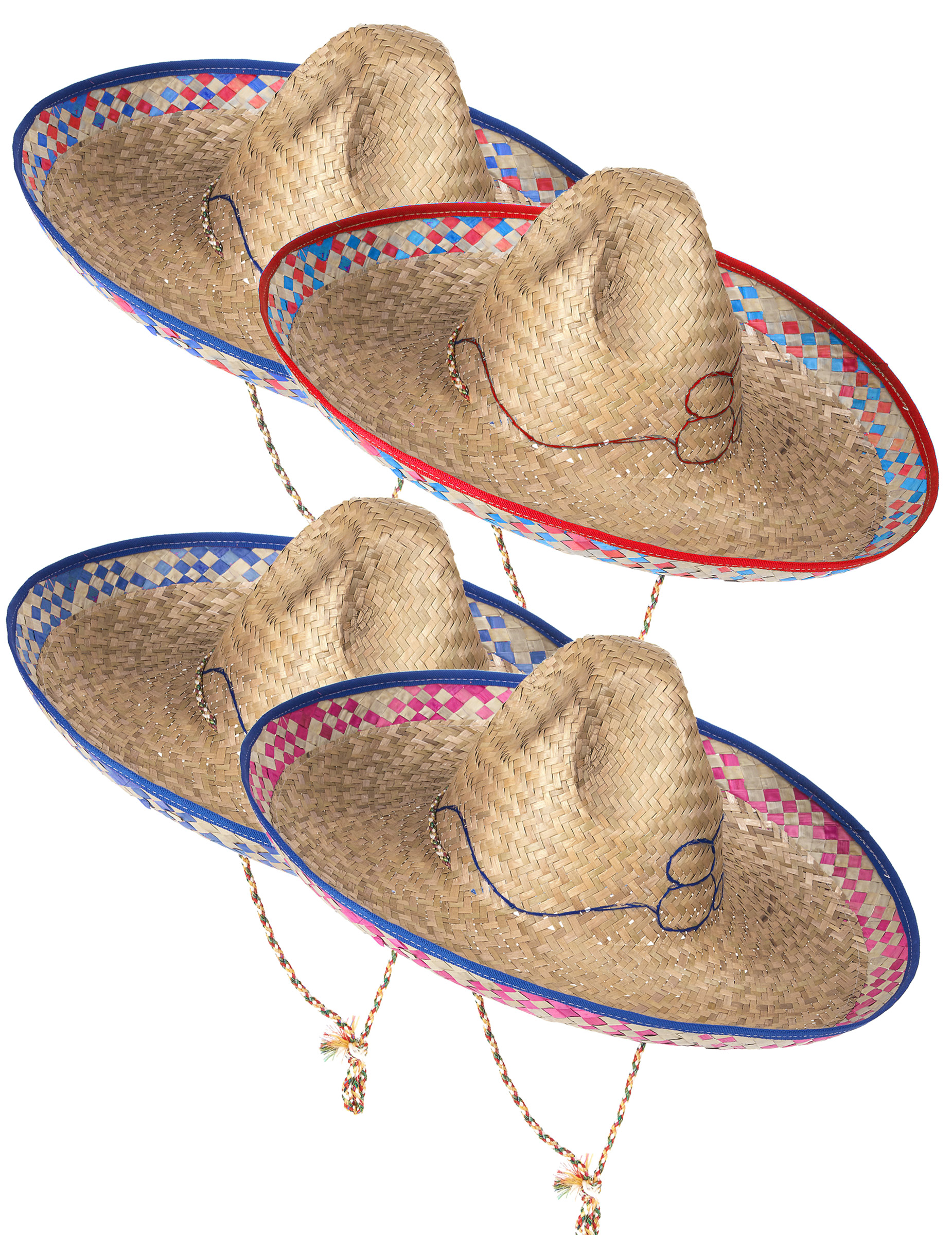 Chapéu de palha mexicano para adulto  Chapéus,mascarilhas e fatos de ... 07d7bccb09