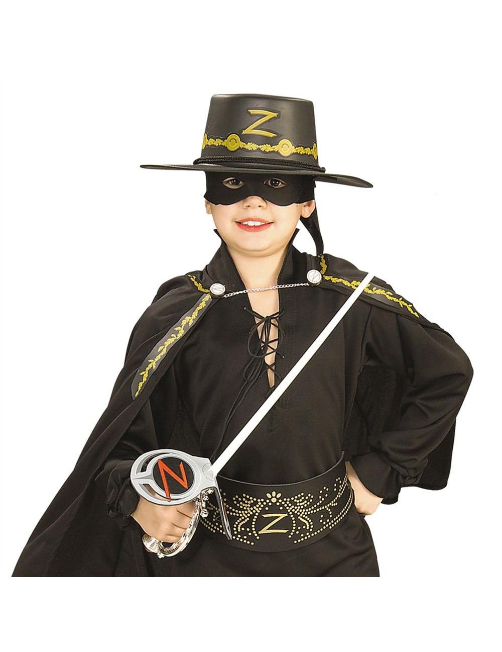 Kit Zorro™ Espada máscara e chapéu criança  Acessórios 8ec9cfe34fb