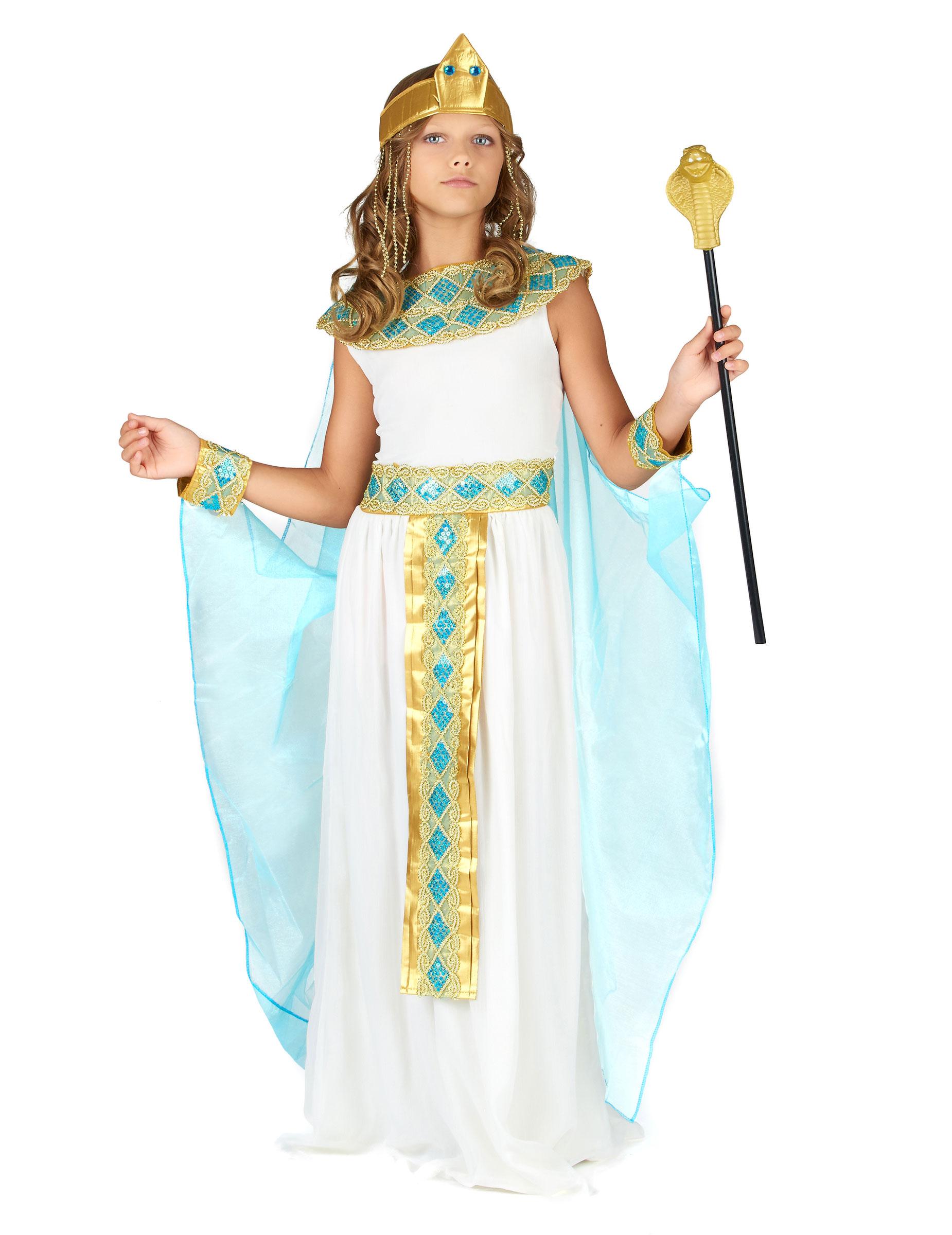 46e38436d Disfarce de Rainha Egipcia para menina  Disfarces Crianças ...