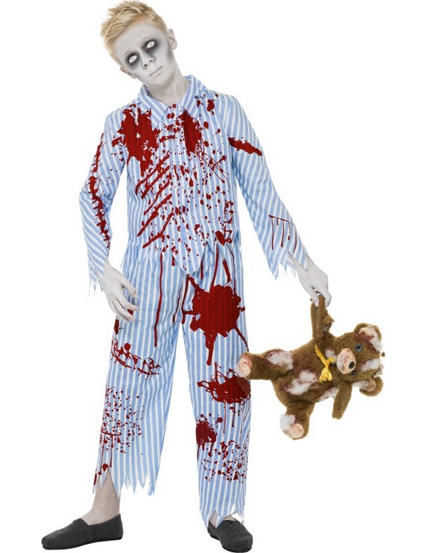 74970d61a Disfarce zombie pijama rapaz Halloween  Disfarces Crianças ...