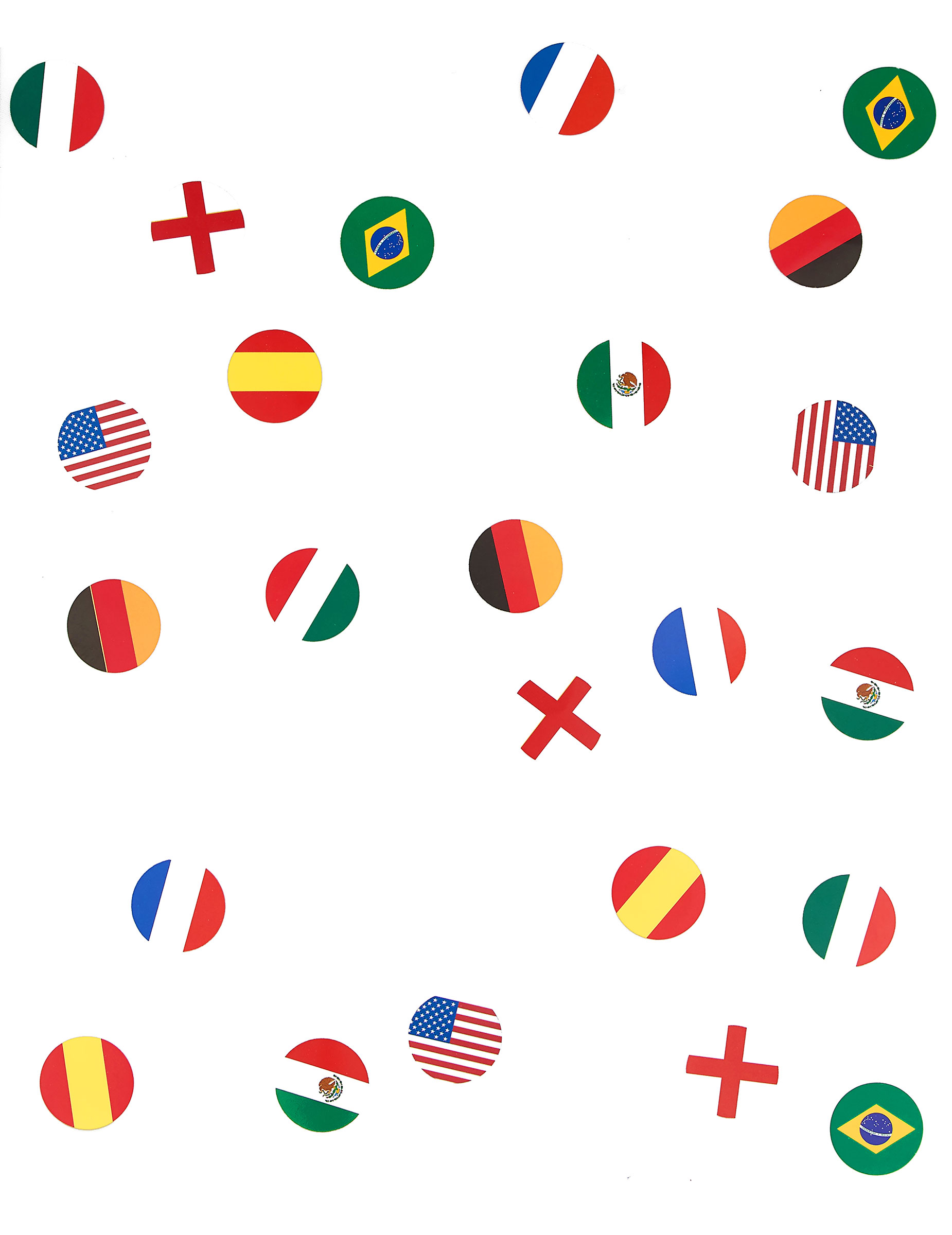 150 confetis de mesa bandeiras multinacionais  Decoração   Animação ... db9d60b0ad7a9
