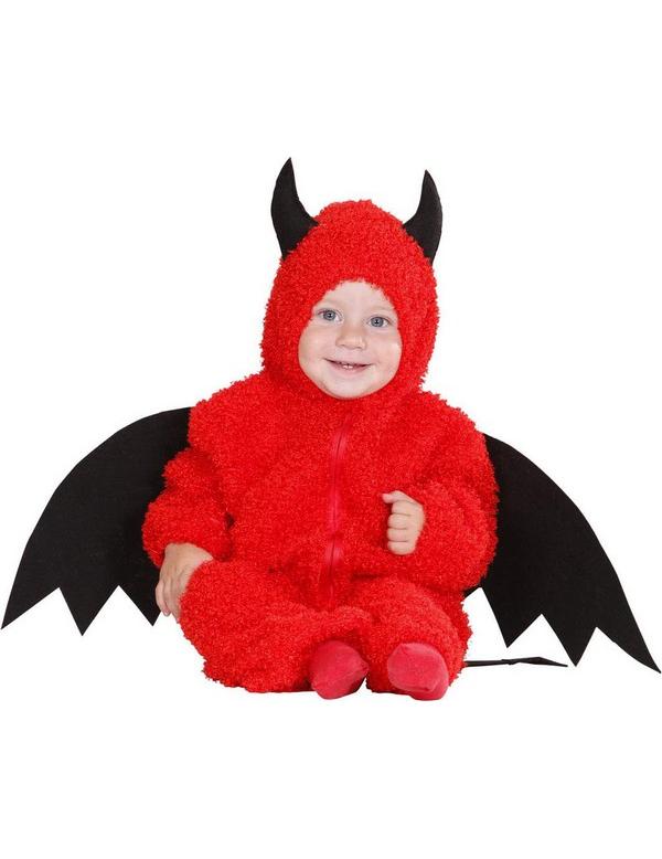4260ff076 Disfarce diabinho vermelho para bebé Halloween  Disfarces Crianças ...
