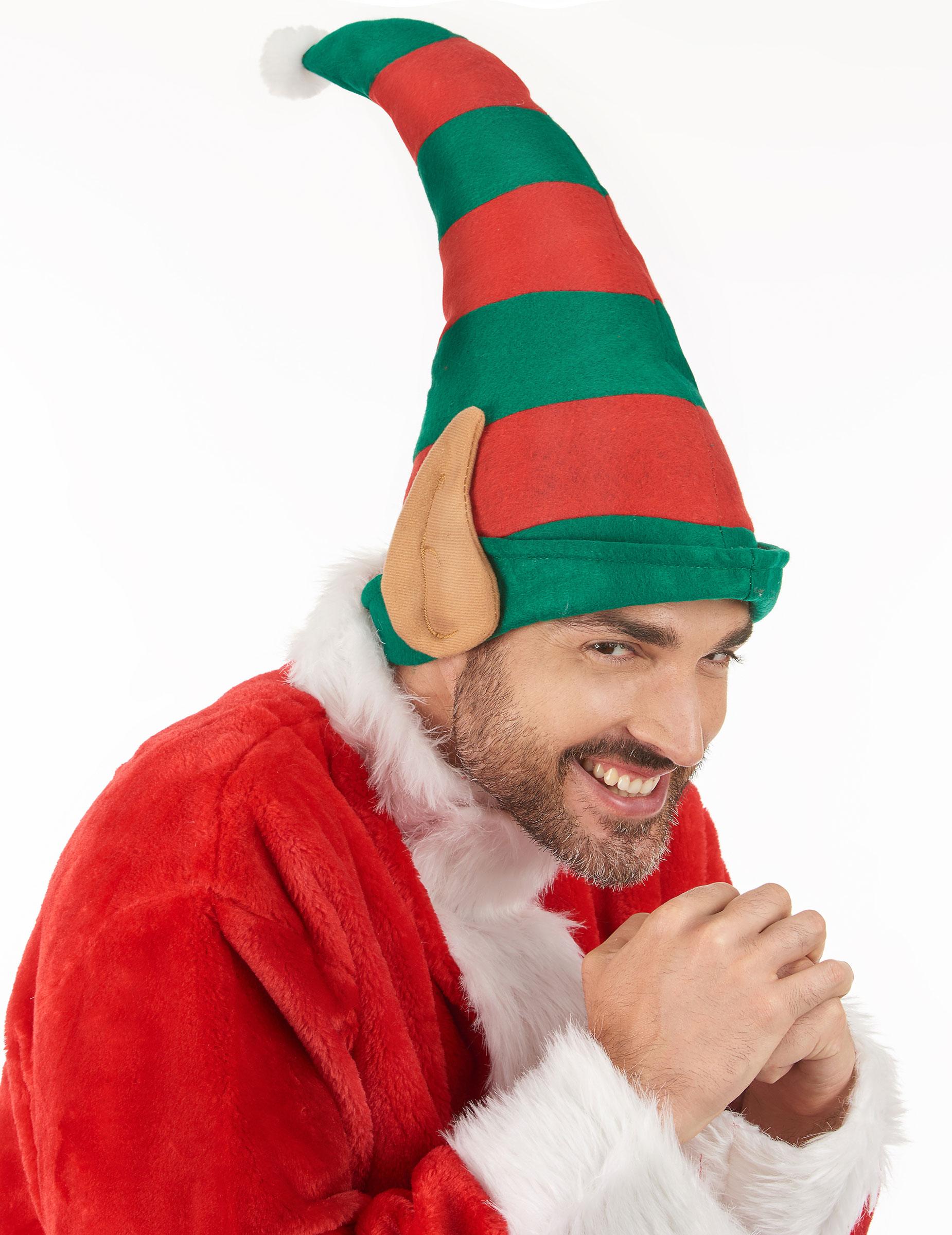 gorro duende do pai natal com orelhas adulto chapéus mascarilhas e