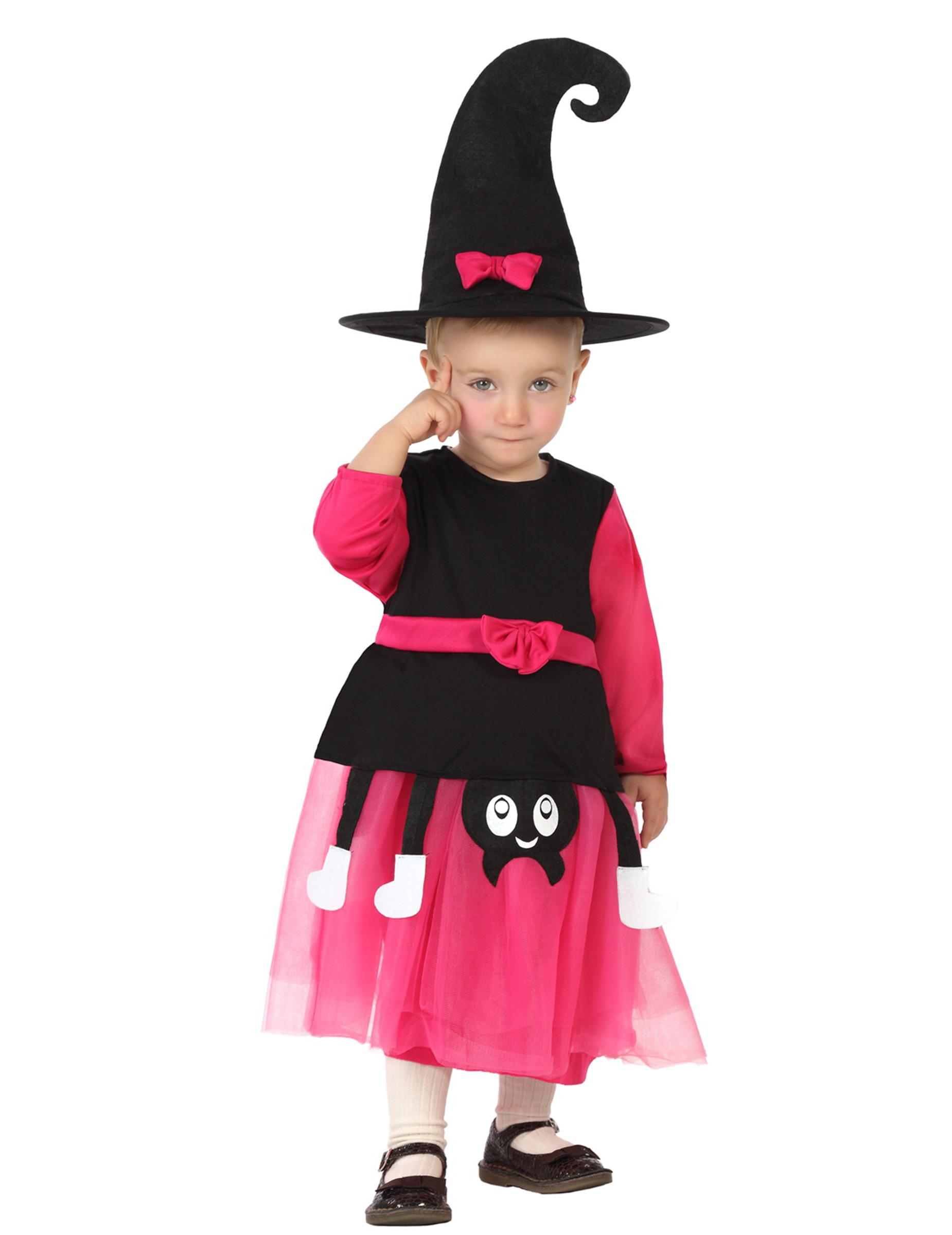 8edbc15b3 Disfarce bruxa bébé Halloween  Disfarces Crianças
