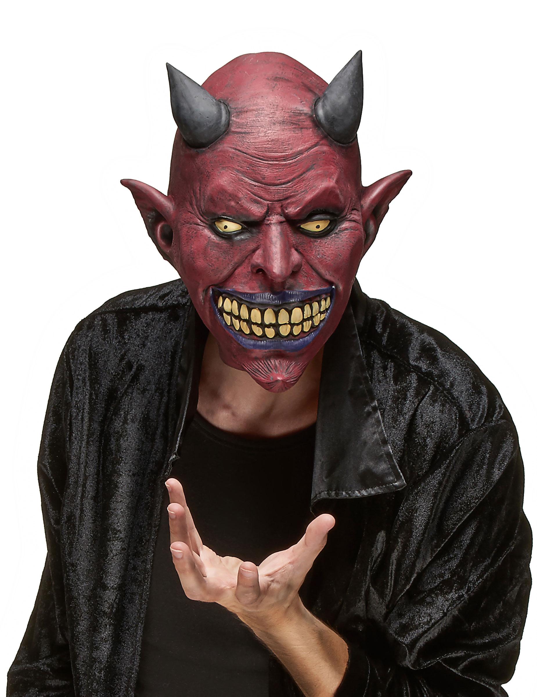 Mscara de ltex criatura diablica adulto Halloween Mscaras