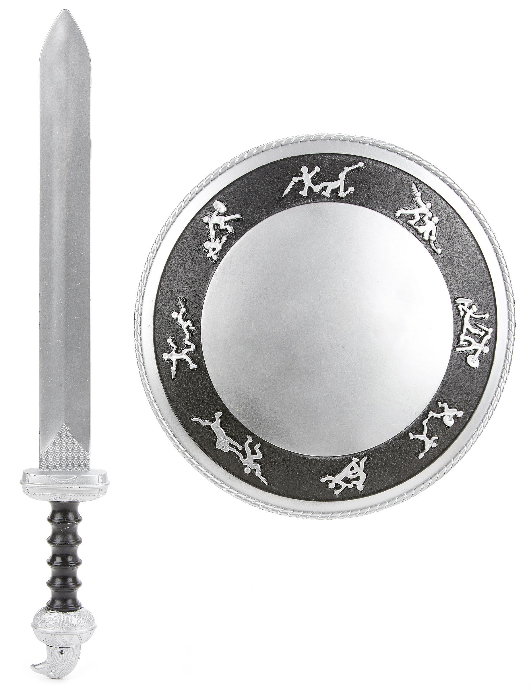 Kit de Gladiador espada e escudo para criança de plástico ... e427e0d60e