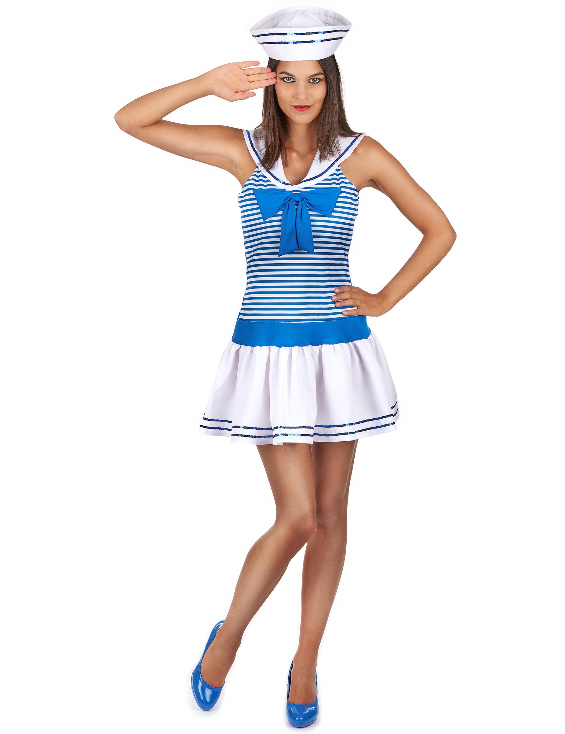 3e27f4ee5 Disfarce de marinheira sexy para mulher  Disfarces Adultos ...