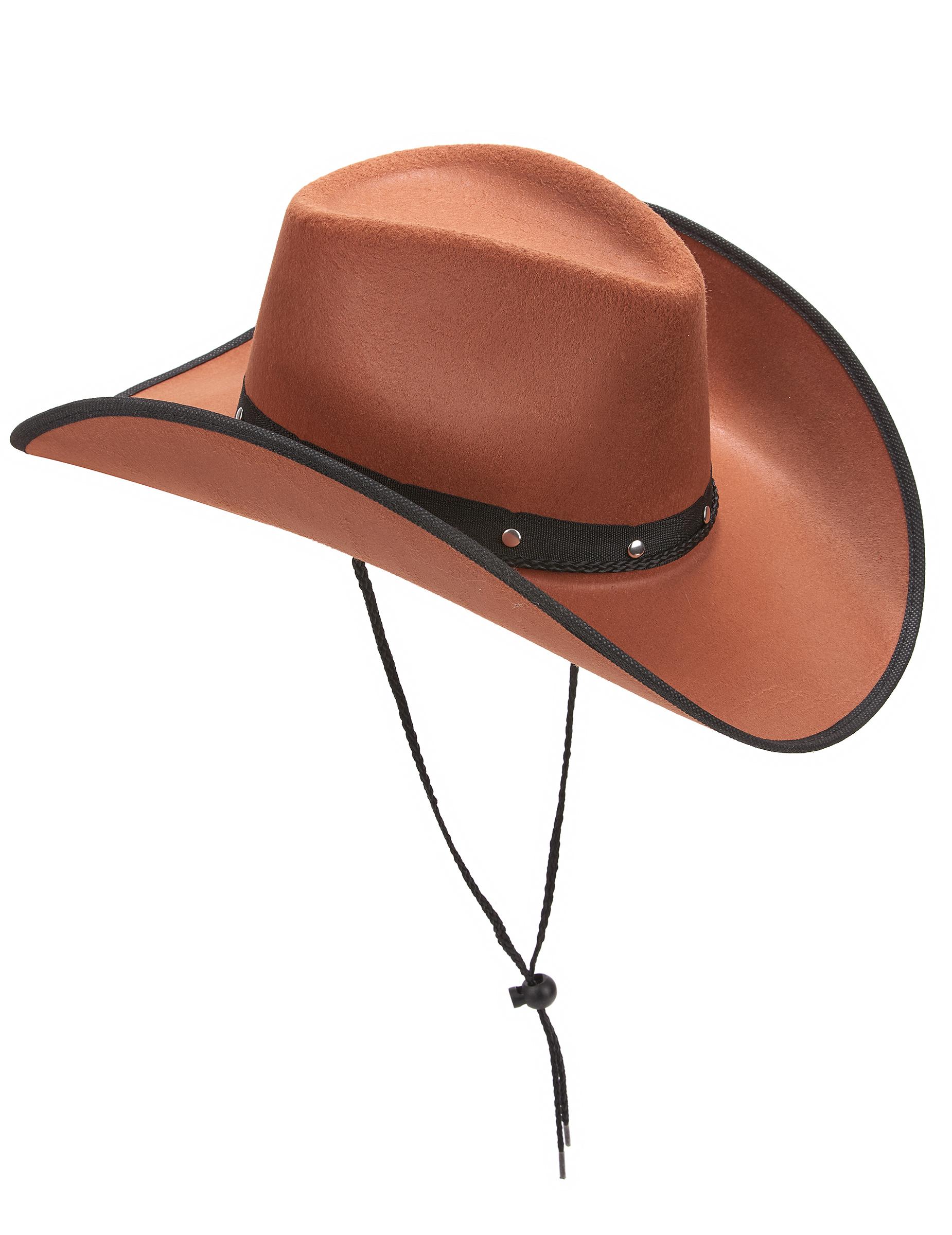 Chapéu castanho de cowboy para adulto  Chapéus 2e280799ba5