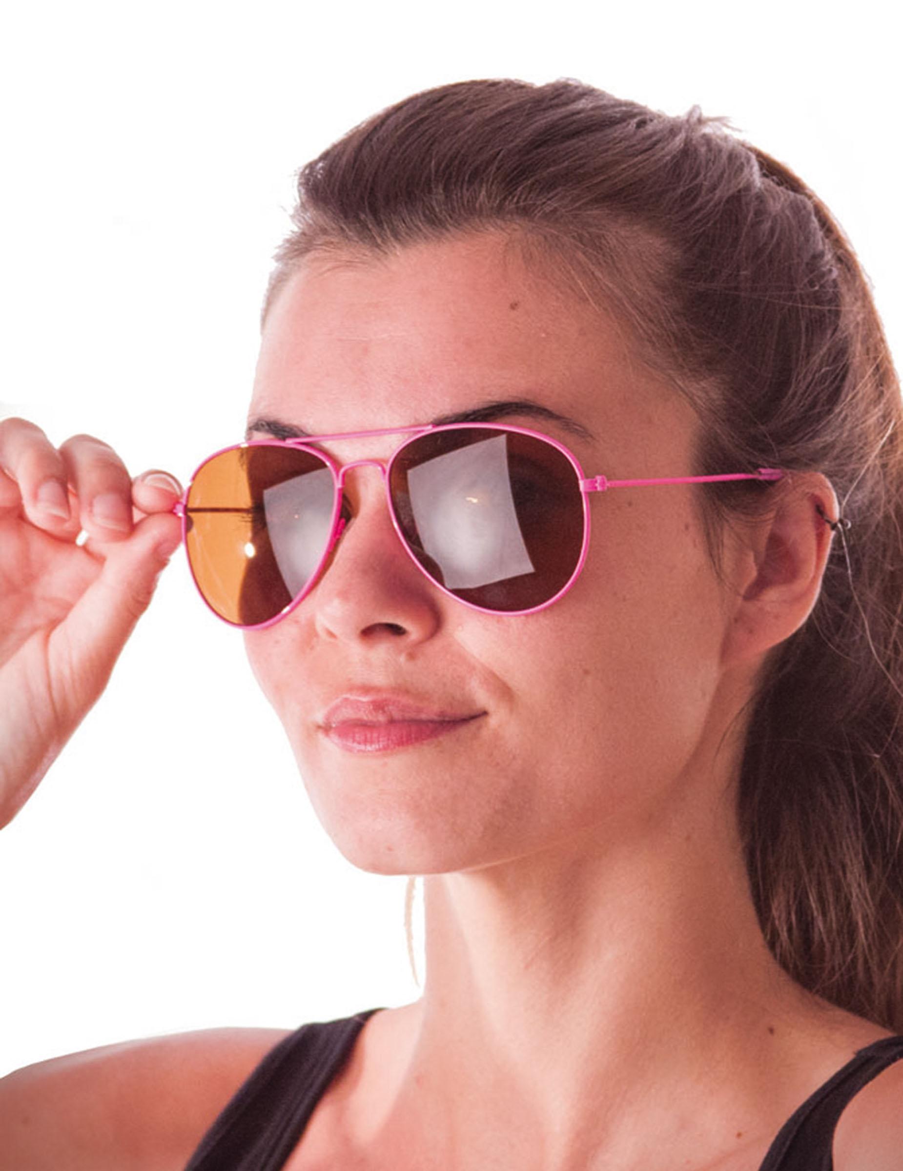 b4a30eb36 Óculos aviador cor-de-rosa fluo adulto: Acessórios,mascarilhas e ...