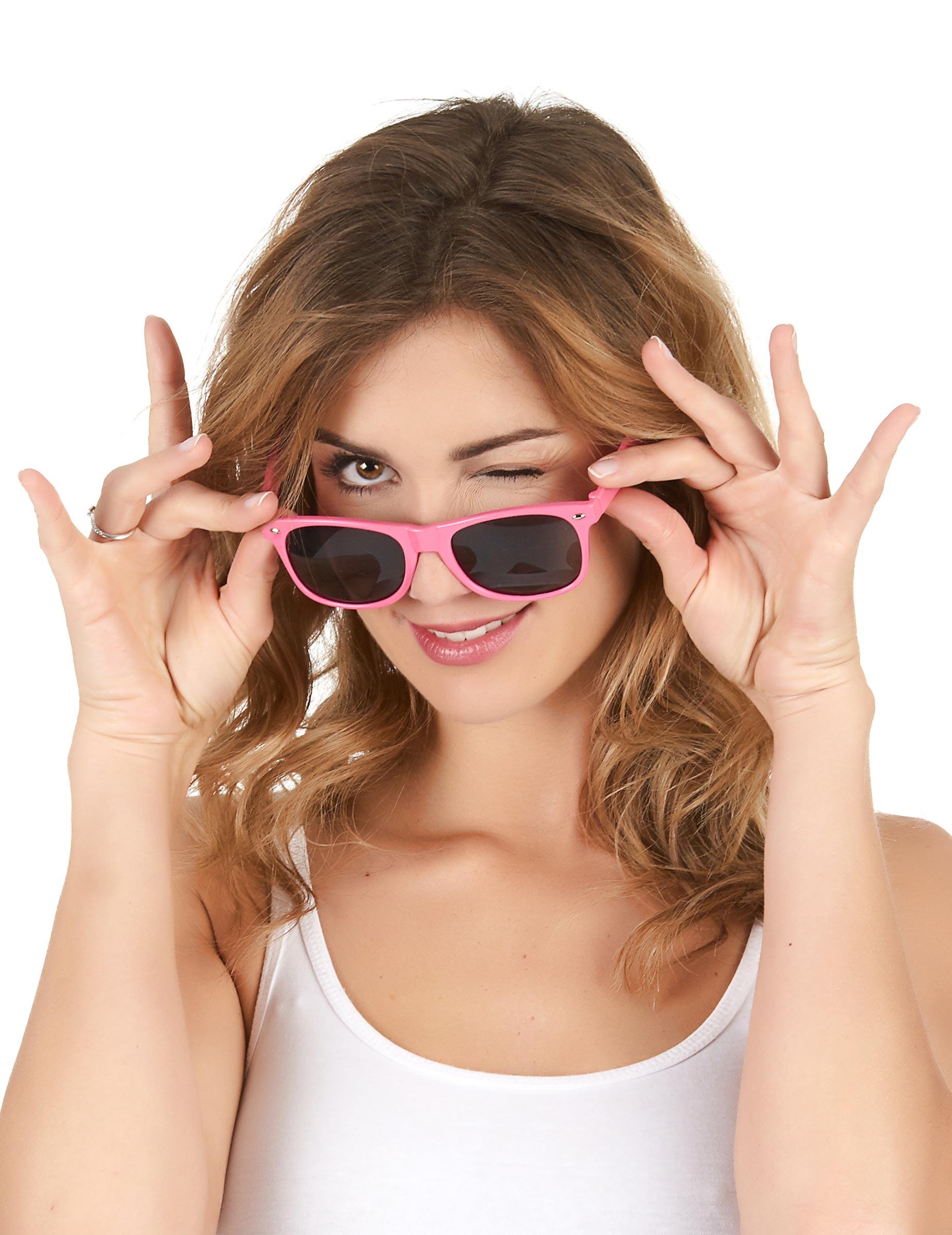 Oculos rosa fluorescente - adulto  Acessórios,mascarilhas e fatos de ... ccdcee11d7