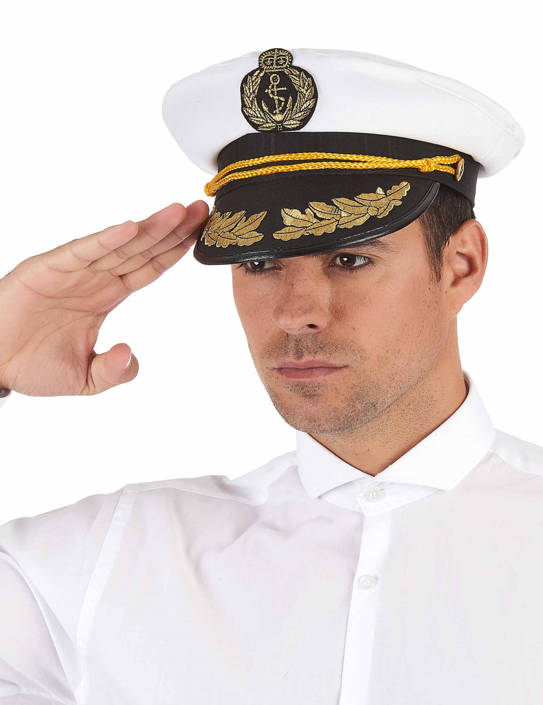 Boina capitão da marinha - adulto  Chapéus 6a8220f20e2