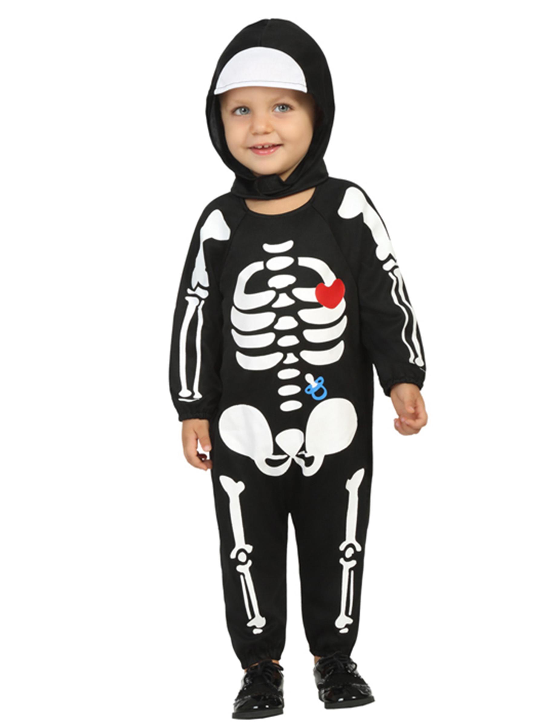 36fa50bca Disfarce bébé esqueleto menino Halloween  Disfarces Crianças ...