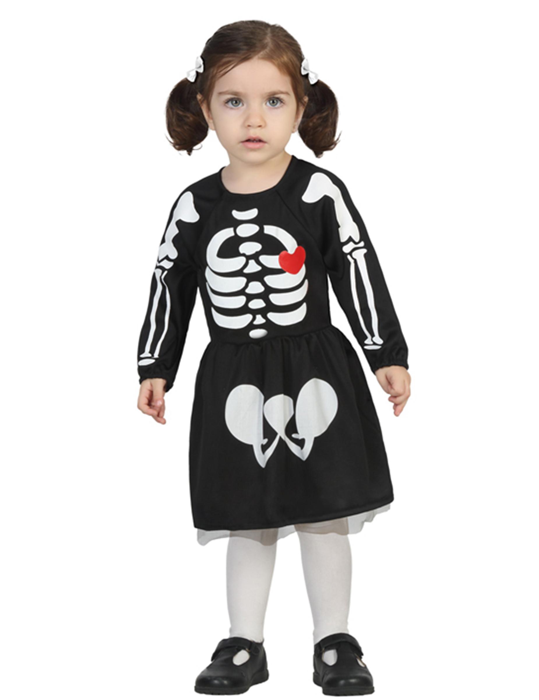 63545558e Disfarce bébé esqueleto menina Halloween  Disfarces Crianças ...
