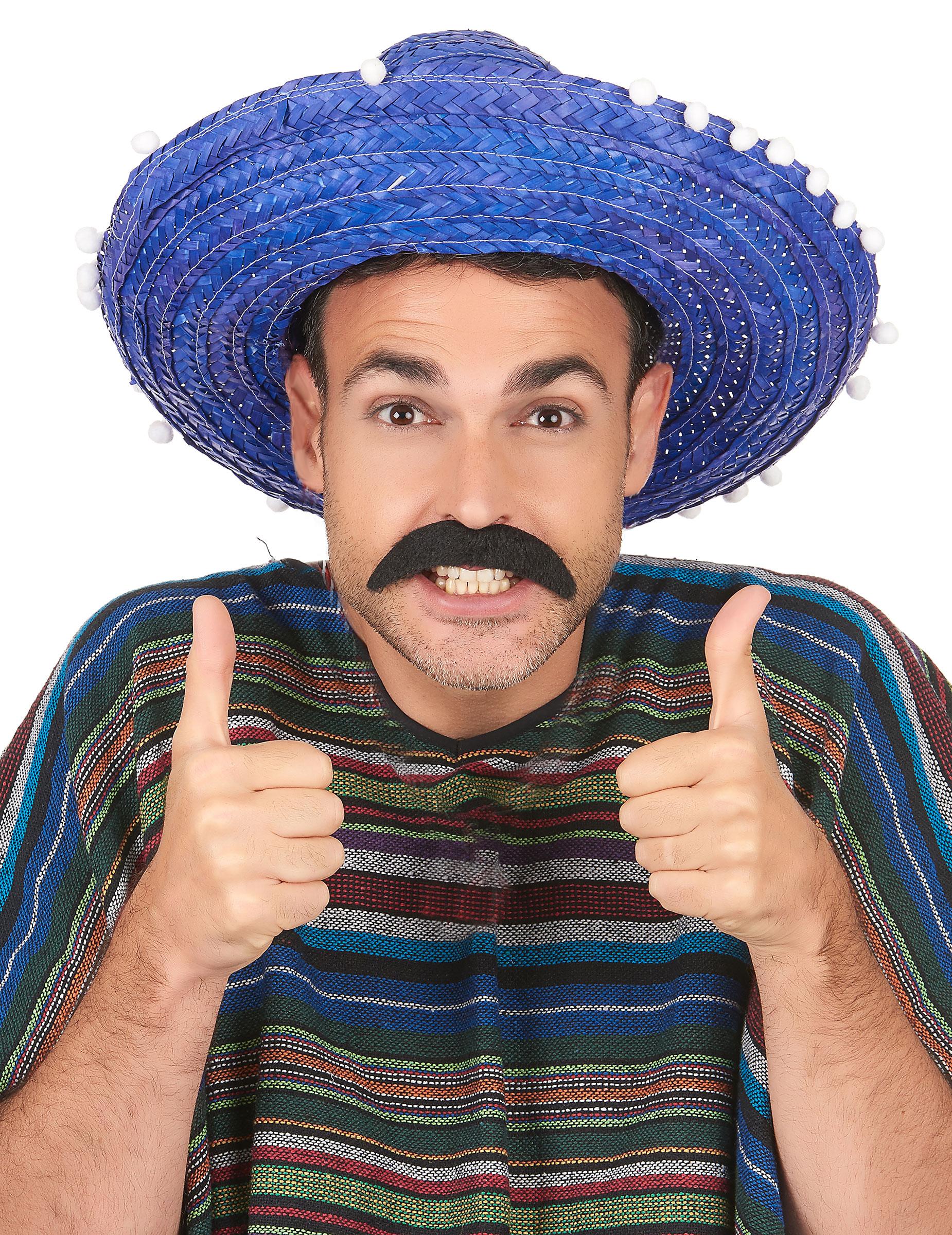 8e82df75fc3e0 Sombrero mexicano azul adulto  Chapéus