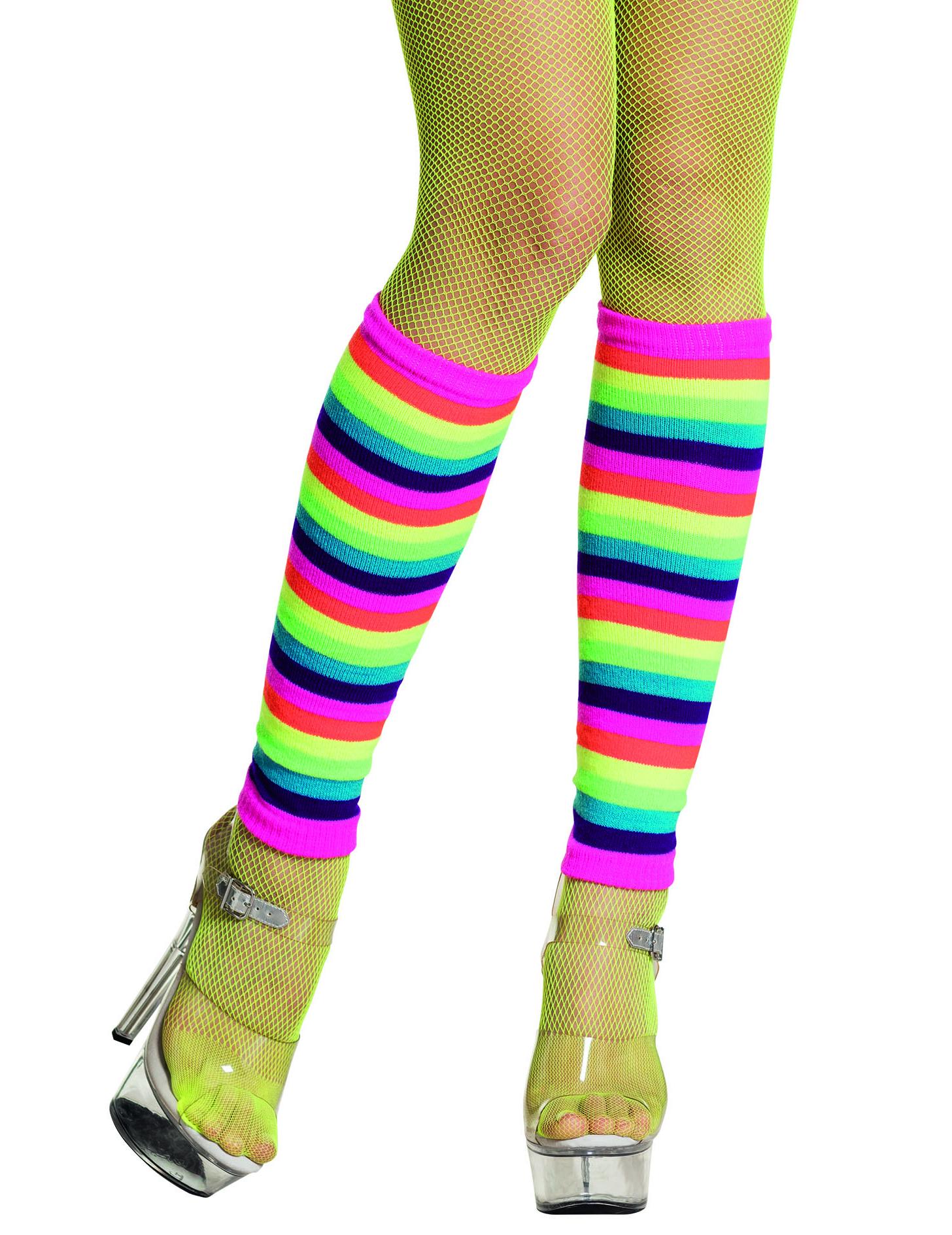 Polainas arco-íris fluo adulto  Acessórios 974dc22a8ea