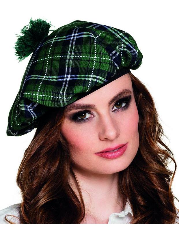 Boina escocesa verde adulto  Chapéus 8f8498a2a3f