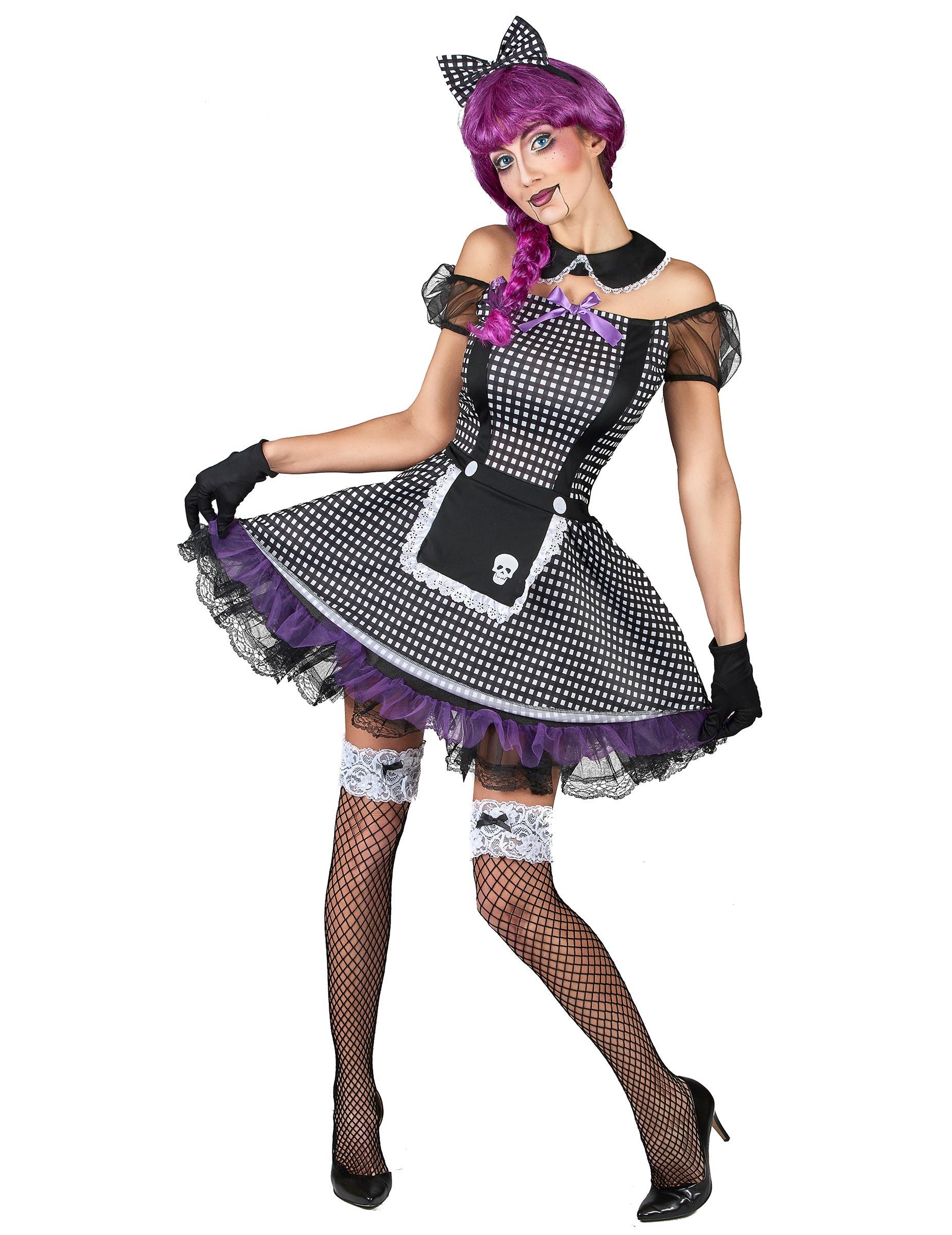 c5afade747 Disfarce boneca gótica mulher: Disfarces Adultos,mascarilhas e fatos ...