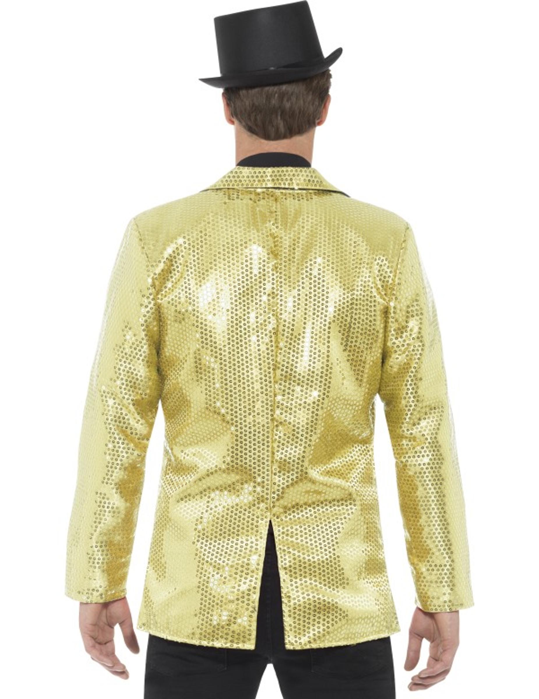 Casaco disco dourado com lantejoulas luxo homem  Disfarces Adultos ... 7ef7ec5a0b5