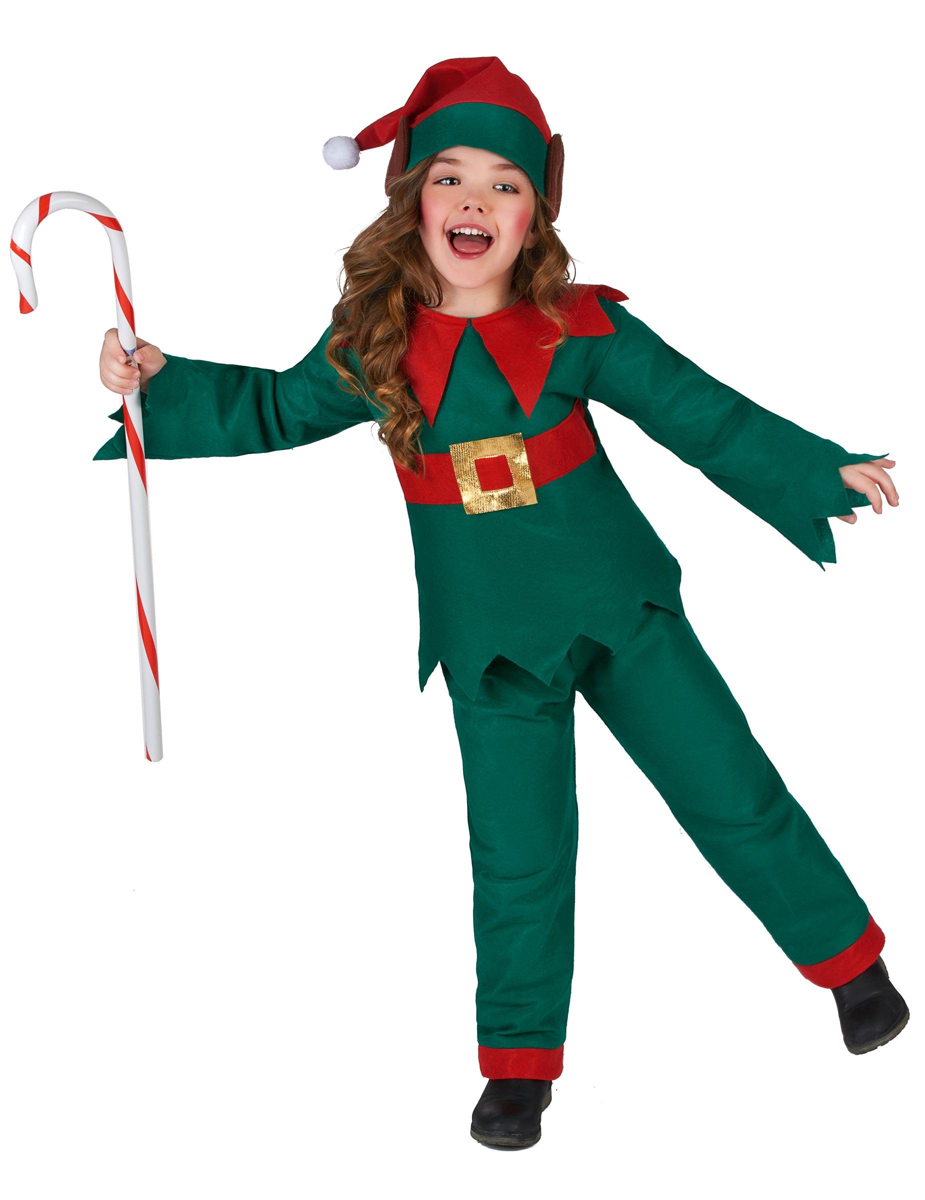 Disfarce Elfo De Natal Criança Disfarces Crianças Mascarilhas E Fatos De Carnaval Vegaoo