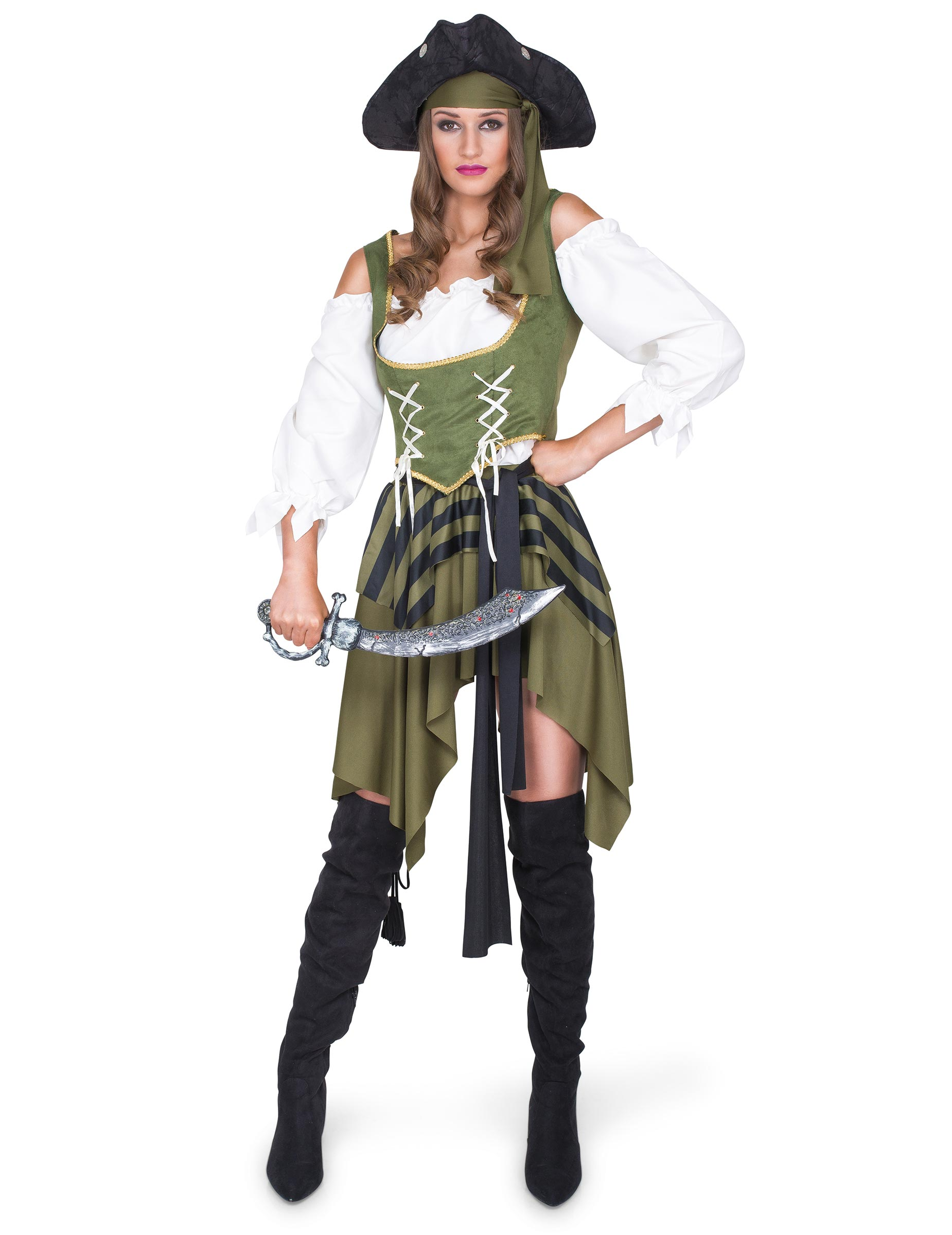 Disfarce Pirata flibusteira mulher: Disfarces Adultos ...