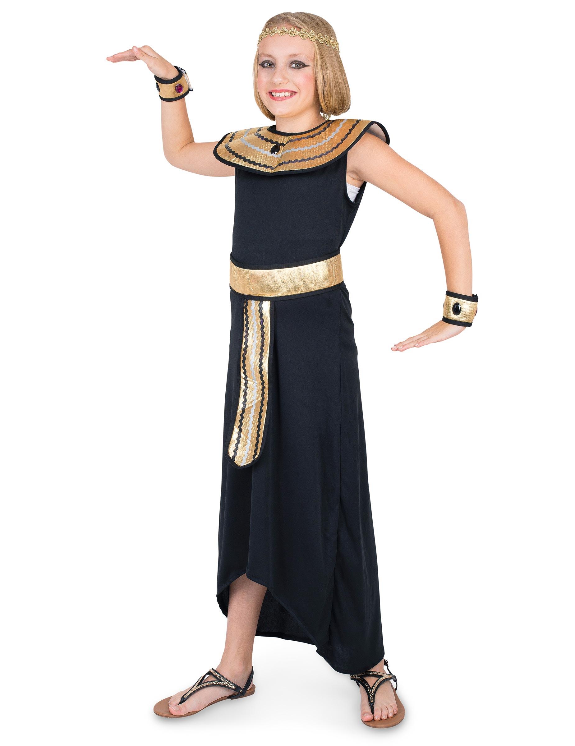 72e606c28 Disfarce Egípcia rainha do Nilo menina  Disfarces Crianças ...