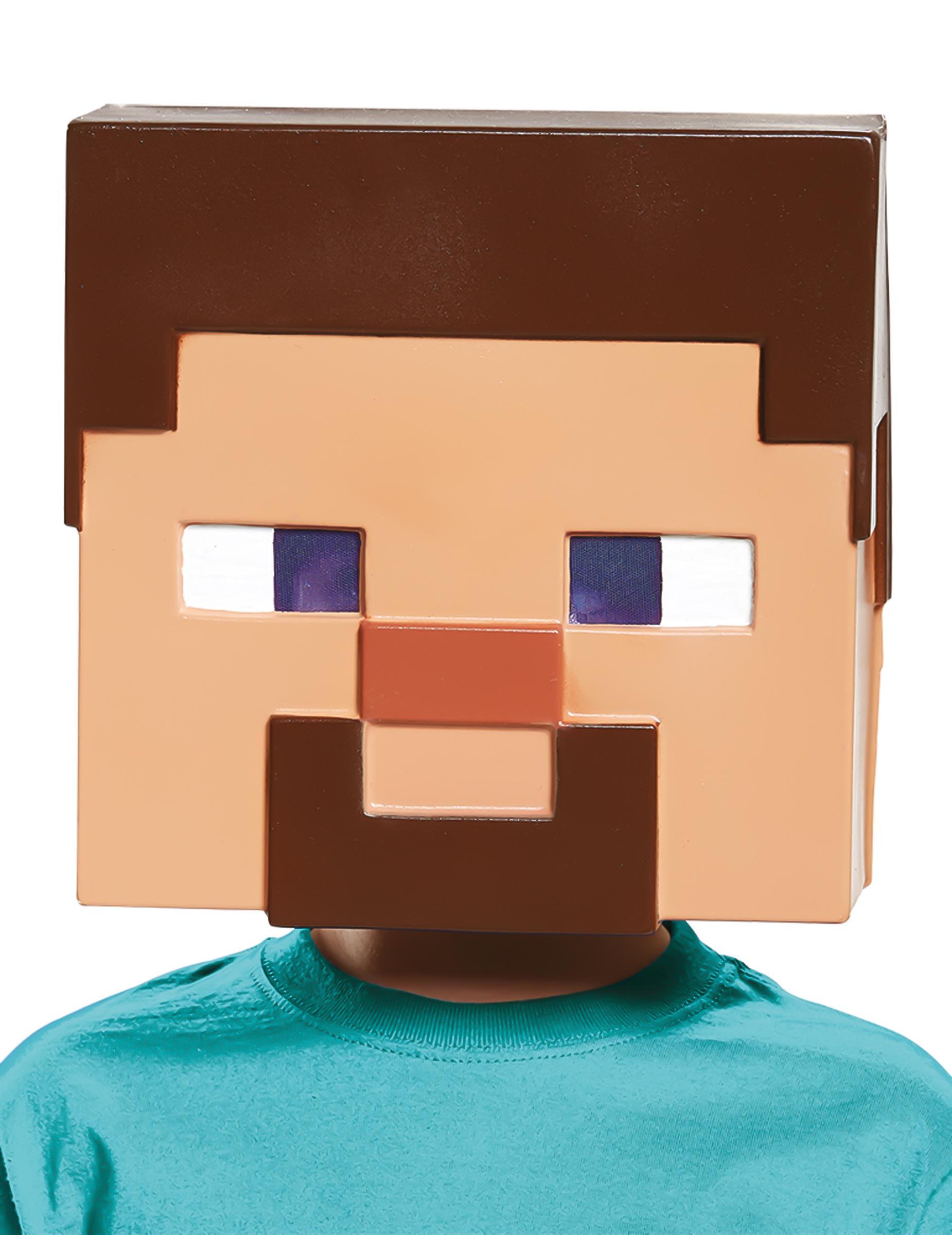 máscara steve minecraft criança máscaras mascarilhas e fatos de