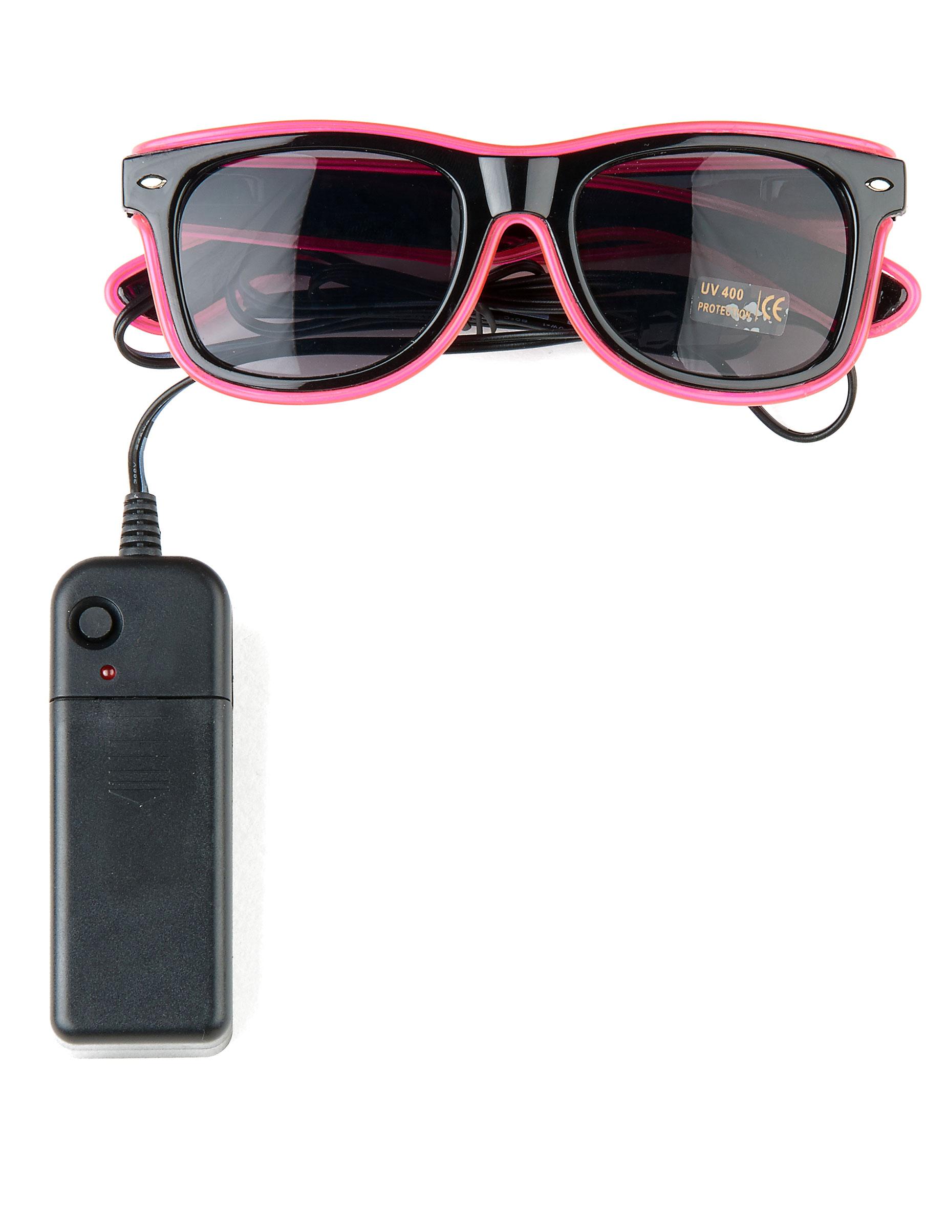 Óculos anos 50  luminosos cor-de-rosa adulto  Acessórios,mascarilhas e  fatos de carnaval - Vegaoo 4ef0c3e34d