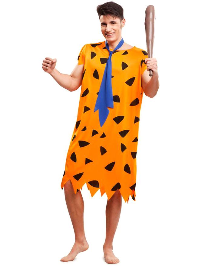 ea689ec18 Disfarce pré-história cor de laranja homem  Disfarces Adultos ...