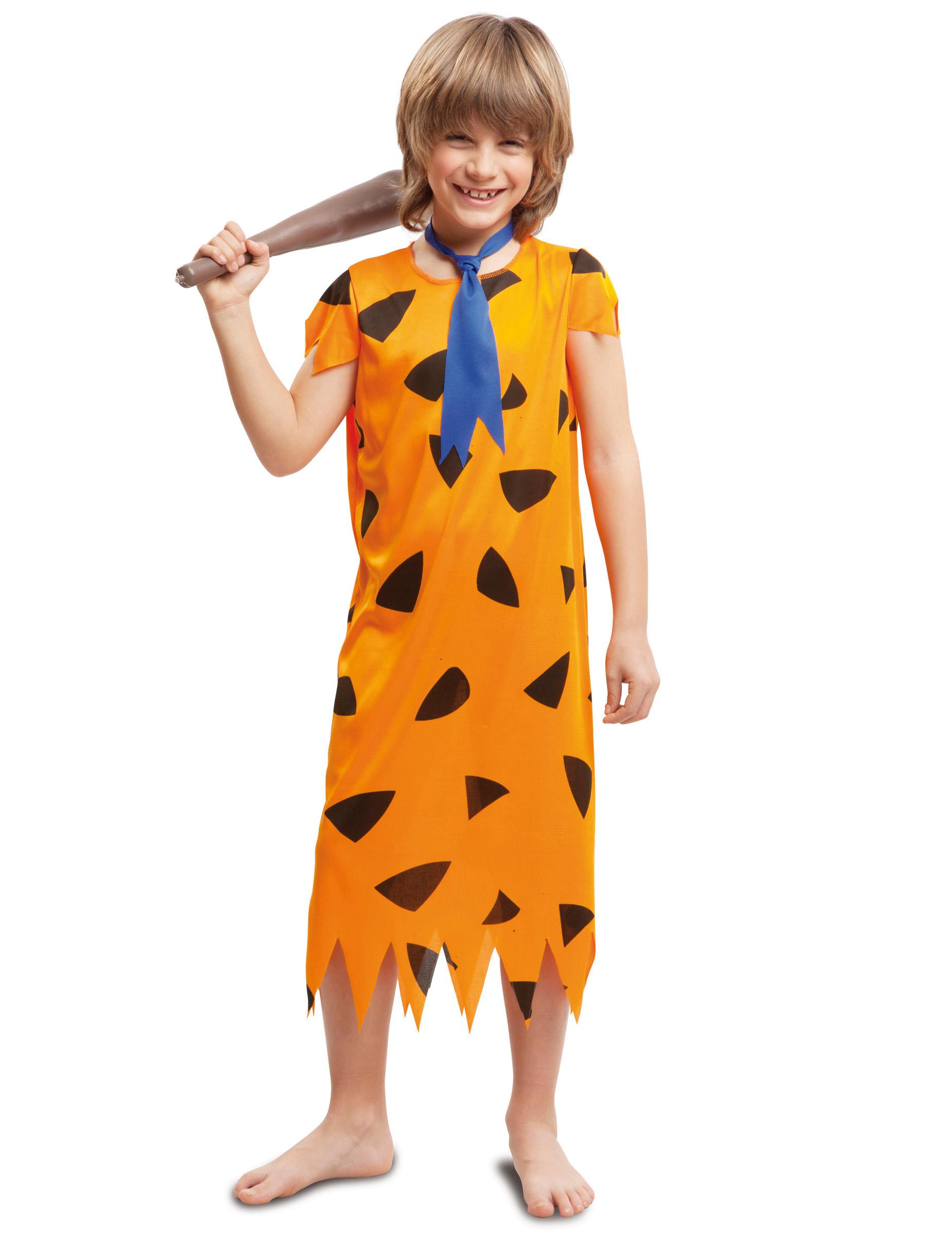 6deeed165 Disfarce pré-histórico cor de laranja menino  Disfarces Crianças ...