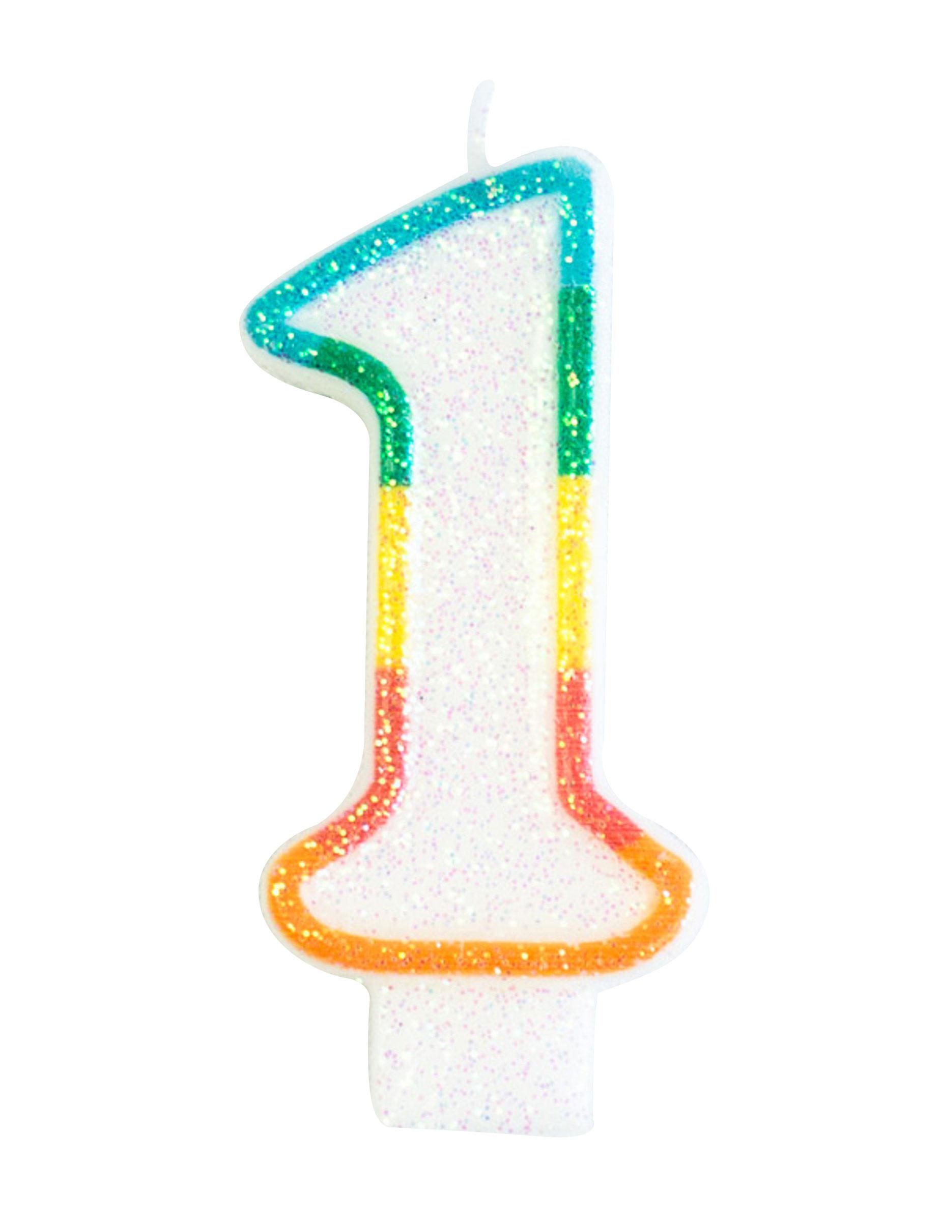 vela de aniversário número 1 decoração animação mascarilhas e