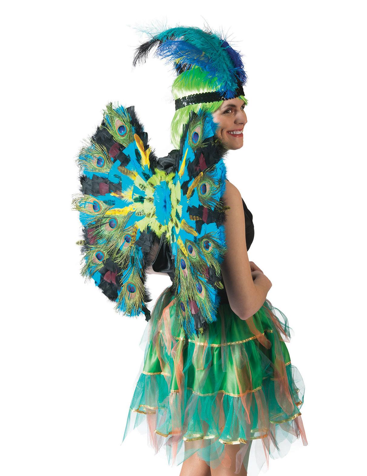 f6bdad16a Asas penas de pavão luxo  Acessórios