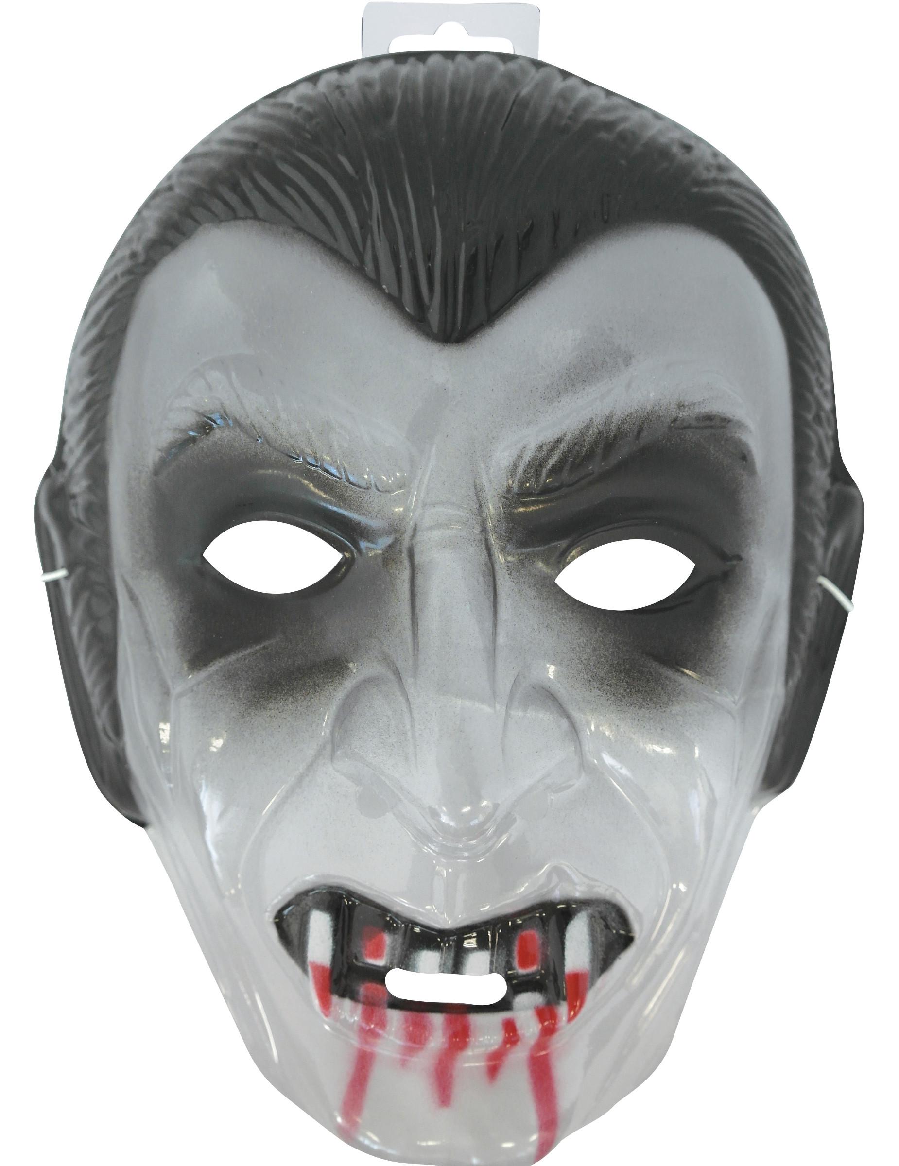 3ab6f6fb5d035 Máscara transparente vampiro adulto  Máscaras,mascarilhas e fatos de ...
