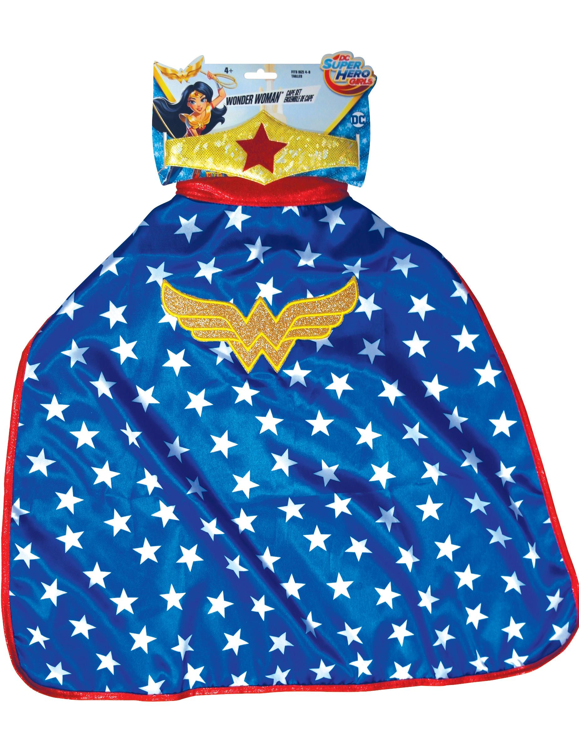 70d42a9f7 Capa e tiara Wonder Woman™ Super Hero Girls™ criança: Acessórios ...