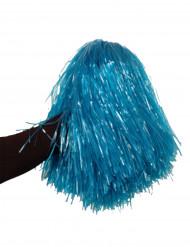 Pompon azul metálica