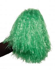 Pompom verde metálico
