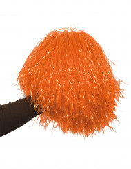 Pompon laranja metálico