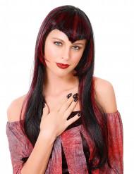 Peruca vampiro vermelha mulher