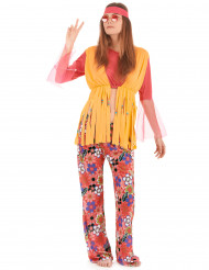 Disfarce hippie de mulher