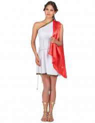 Disfarce curto de deusa romana mulher