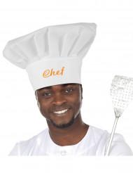 Chapéu de chef de cozinha para adulto