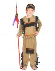 Disfarce de índio menino castanho claro
