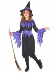 Disfarce de feiticeira de Halloween para rapariga