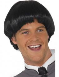 Peruca curta de cabelos pretos para homem