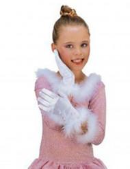 Luvas brancas menina