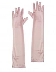 Luvas compridas cor-de-rosa criança