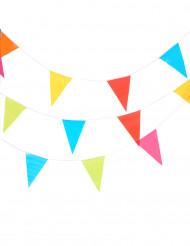Grinalda de bandeirinhas de várias cores com 10 metros