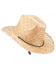 Chapéu de palha Dallas Bull para adulto