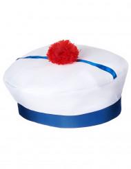 Chapéu marinheiro com pompom para adulto