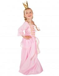Disfarce de princesa cor-de-rosa e dourado menina